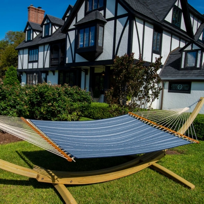 Large Quilted Sunbrella Fabric Hammock - Equal Ink