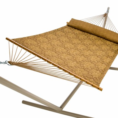 Large Polyester Quilted Hammock, Carmel Wheat