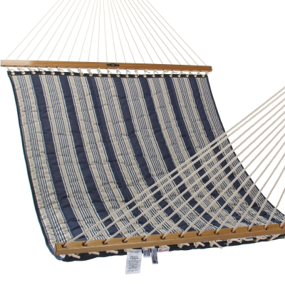 Large Quilted Fabric Hammock - Marine Stripe