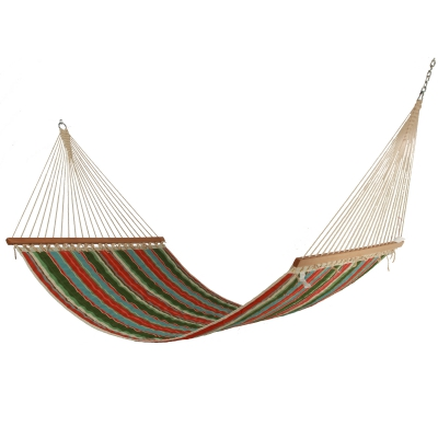 Large Polyester Quilted Hammock - Watermelon Stripe
