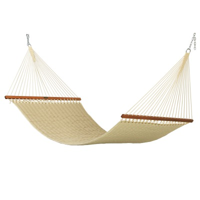 Large Quilted Fabric Hammock - Spectrum Sand