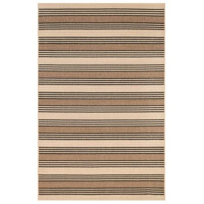 Riviera Stripe Tan Indoor/Outdoor Rug