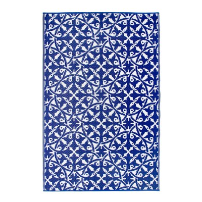 San Juan Dark Blue Recycled Indoor/Outdoor Mat