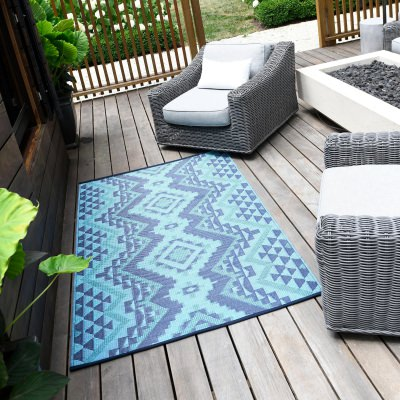 Santa Fe Teal Outdoor Mat