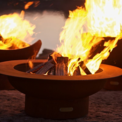 28 in. Steel Saturn Fire Pit