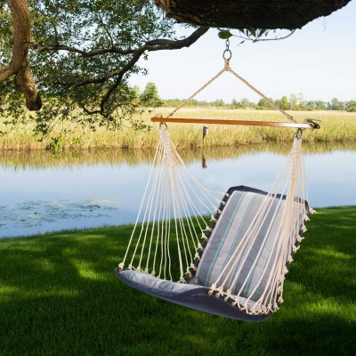 Sunbrella Cushioned Single Swing - Trusted Coast