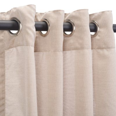 Sunbrella Sheer Wren Outdoor Curtain with Grommets