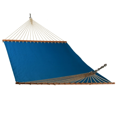 Solid Ocean Blue Single Layer Hammock