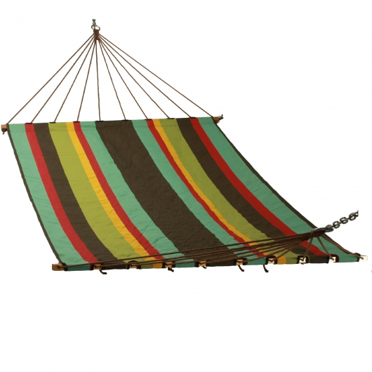 Large Multicolor Stripe Single Layer Hammock