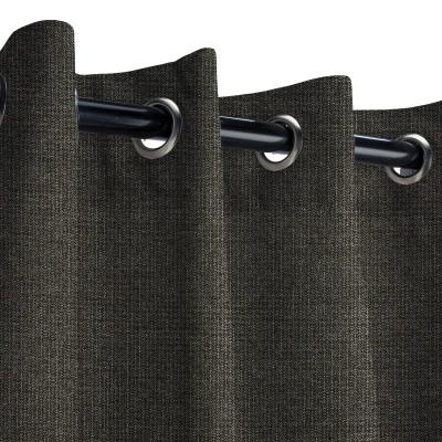 Sunbrella Spectrum Carbon Outdoor Curtain with Grommets
