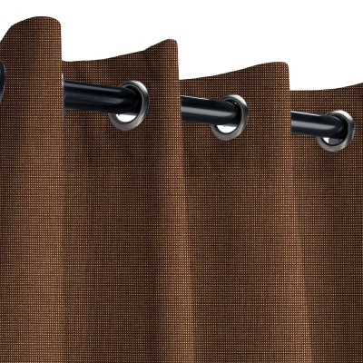 Sunbrella Spectrum Coffee Outdoor Curtain with Grommets