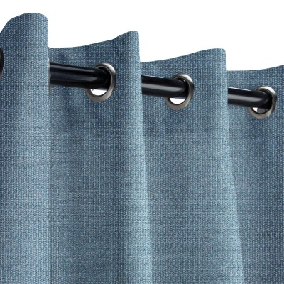 Sunbrella Spectrum Denim Outdoor Curtain with Grommets