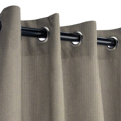 Sunbrella Spectrum Graphite Outdoor Curtain with Grommets