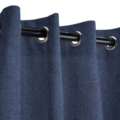 Sunbrella Spectrum Indigo Outdoor Curtain with Grommets
