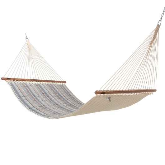 Large Sunbrella Quilted Hammock - Milano Char