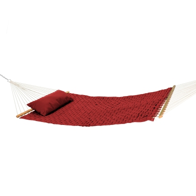 Large Soft Weave Hammock with Pillow - Garnet