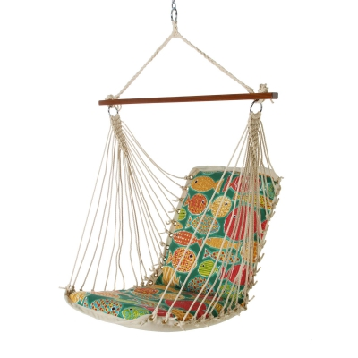 Polyester Cushioned Single Swing - Sunfish Lagoon