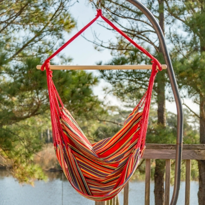 Single Size Fabric Swing - Red Stripe