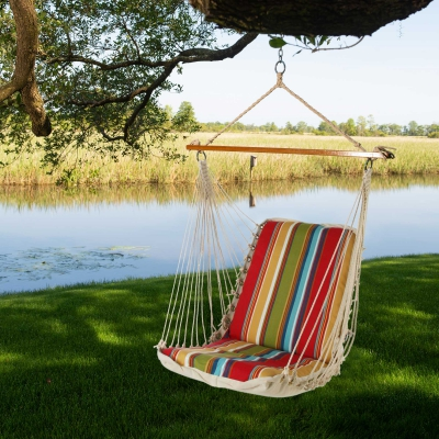 Polyester Cushioned Single Swing - Westport Garden