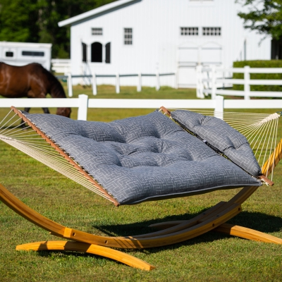 Large Sunbrella Tufted Hammock - Create Smoke