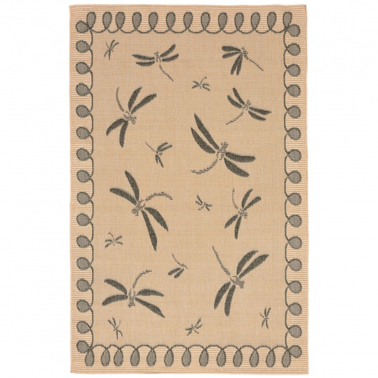Terrace Dragonfly Neutral Outdoor Rug
