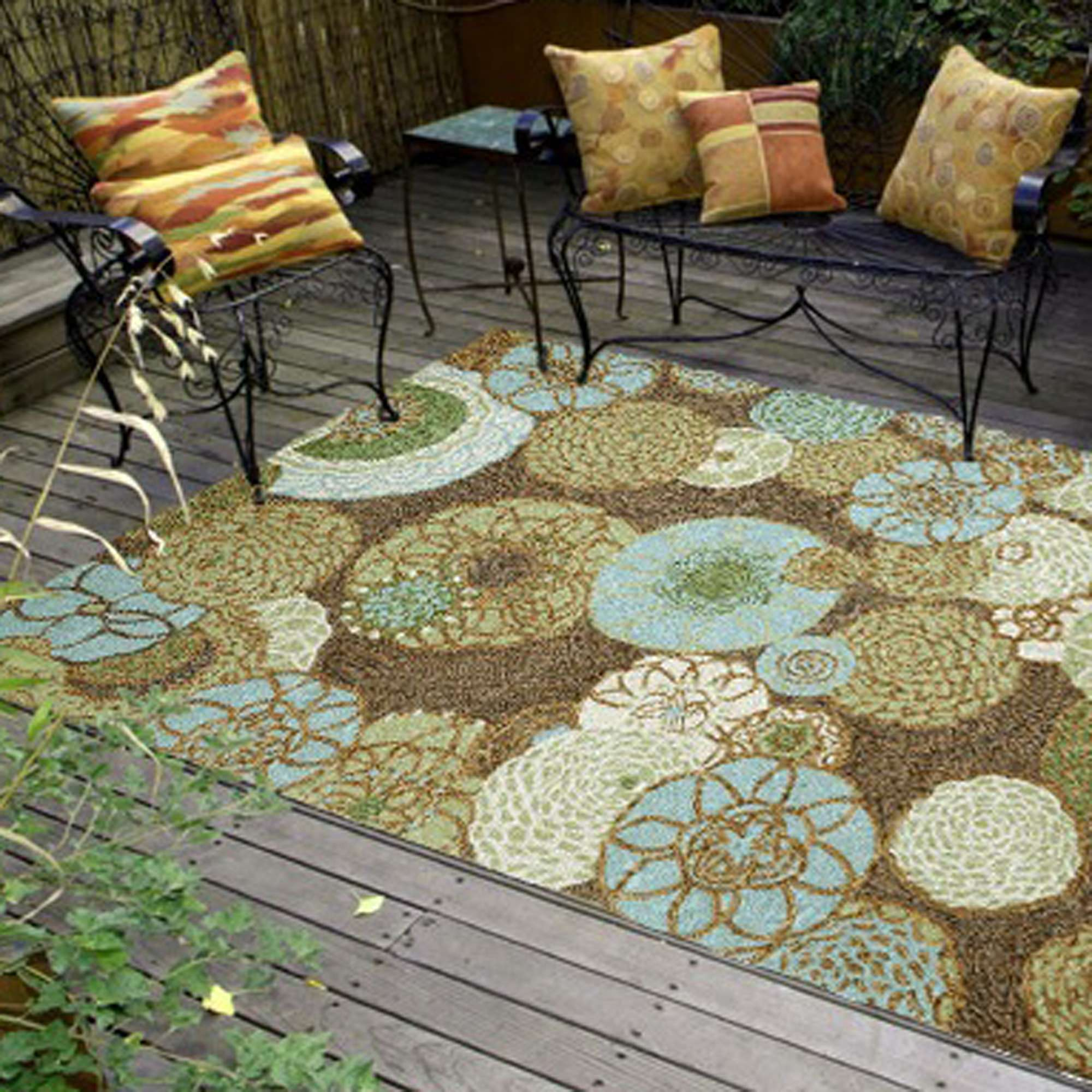 Ravella Disco Driftwood Outdoor Rug Liora Manne By Transocean Rugs Outdoors Dfohome