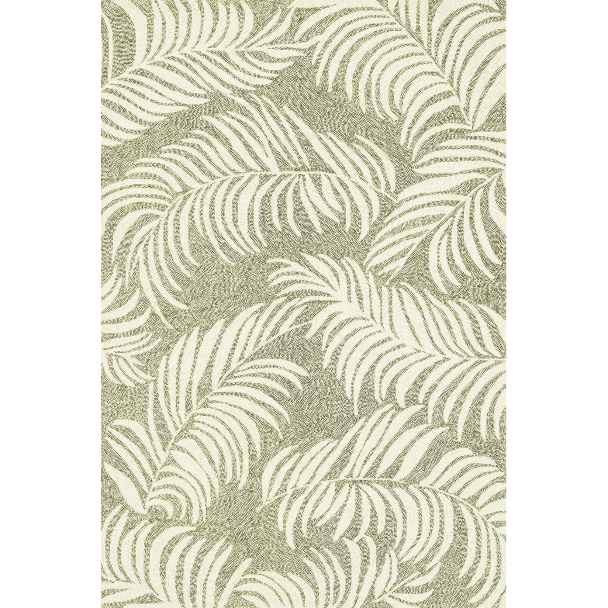 Perfect Shop Tropez Palm Leaves Sage Outdoor Rug (3ft 6in x 5ft 6in  PS63