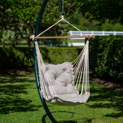 Tufted Sunbrella Single Swing - Cast Ash