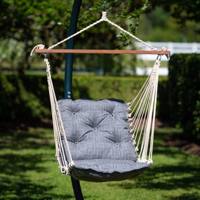 Tufted Sunbrella Single Swing - Cast Slate