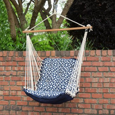 Tufted Sunbrella Single Swing - Luxe Indigo