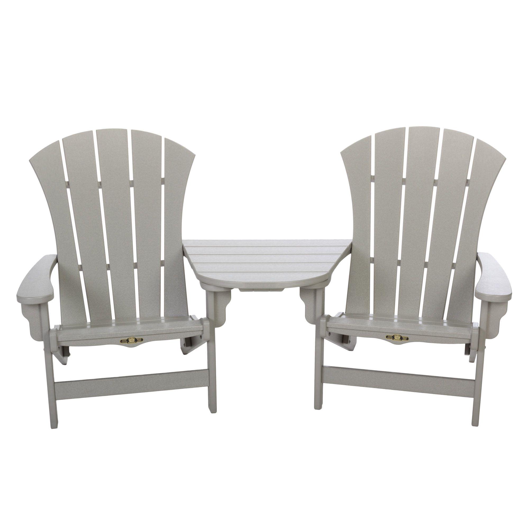 3 Piece Sunrise Adirondack Chair And Tete A Set