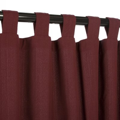 WeatherSmart Dark Wine Outdoor Curtain with Tabs in 50 in. W by 108 in. L