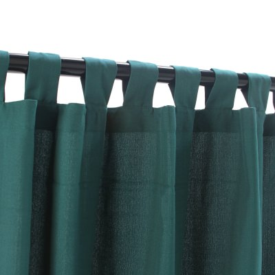 WeatherSmart Emerald Outdoor Curtain with Tabs in 50 in. W x 108 in. L