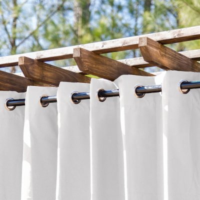 Blanco Extra Wide Outdoor Curtain