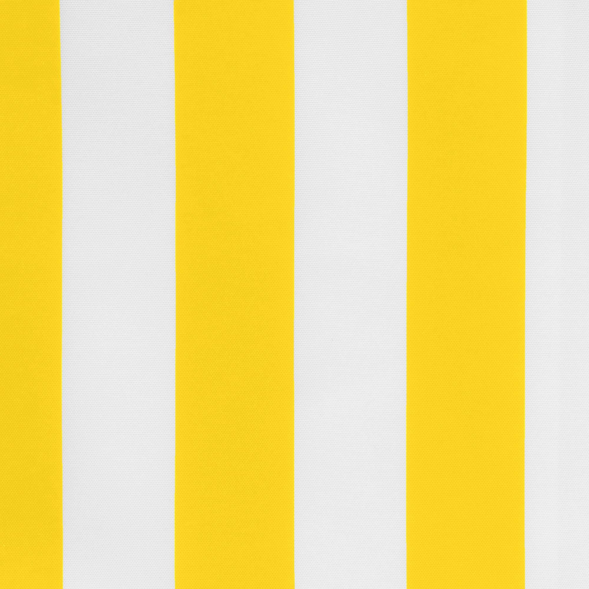 Yellow Coastal Stripe Polyester Outdoor Curtain ...