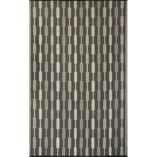 Zipper Silver Outdoor Mat 5ft x 8ft